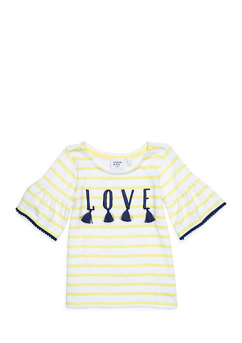 Crown & Ivy™ Toddler Girls Bell Sleeve Top