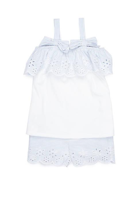 Crown & Ivy™ Toddler Girls Off the Shoulder