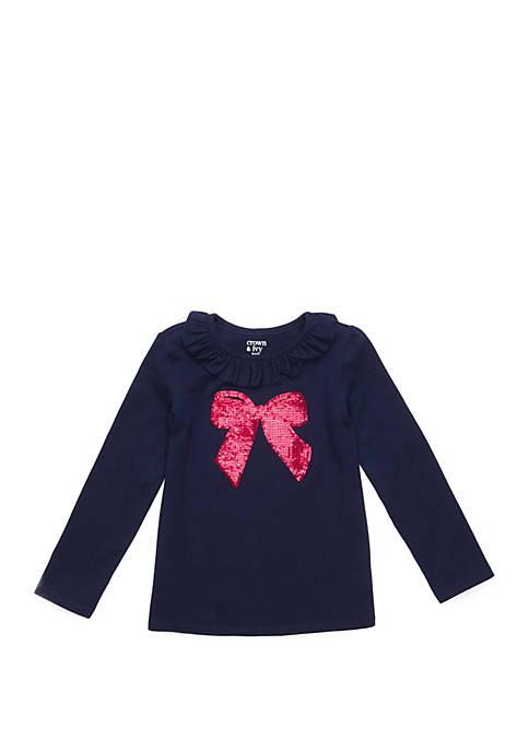 Crown & Ivy™ Toddler Girls Ruffle Neck Long