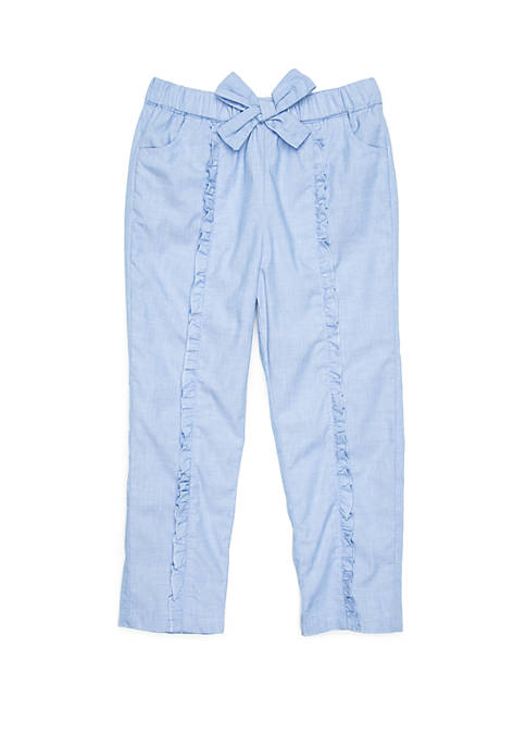 Crown & Ivy™ Toddler Girls Ruffle Front Jogger