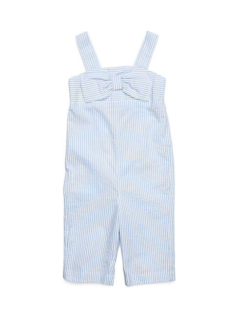 Crown & Ivy™ Toddler Girls Bow Front Romper
