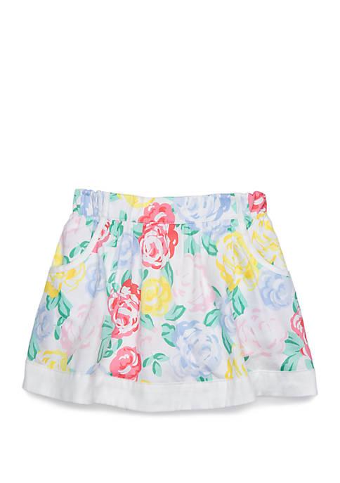Toddler Girls Pocket Skirt