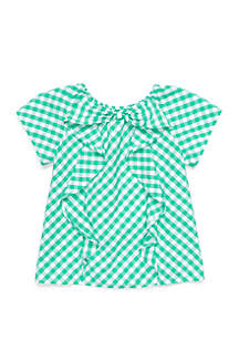 Crown & Ivy™ Toddler Girls Bow Front Top