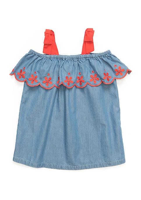 Crown & Ivy™ Toddler Girls Cold Shoulder Top