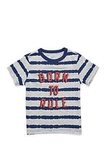 Toddler Boys Stripe Graphic Tee