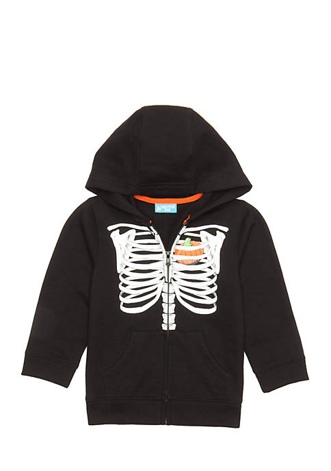 Lightning Bug Toddler Boys Halloween Zip Hoodie