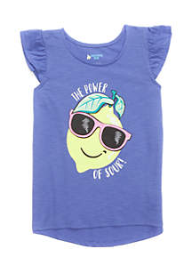 Flutter Screen Print Tee Toddler Girls