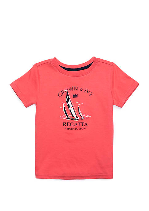 Crown & Ivy™ Toddler Boys Short Sleeve Fashion