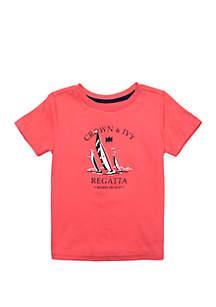 Crown & Ivy™ Toddler Boys Short Sleeve Fashion Tee