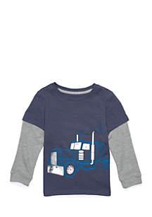Toddler Boys Long Sleeve 2Fer Tee