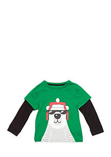 Toddler Boys Long Sleeve 2Fer Graphic Tee