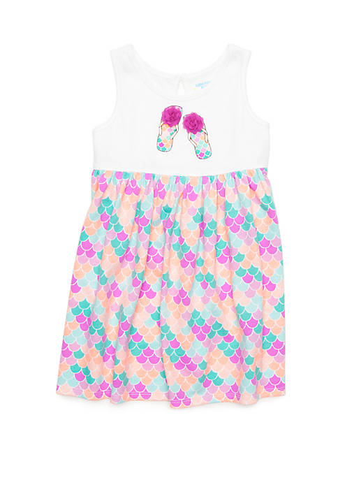 Lightning Bug Toddler Girls Tank Dress