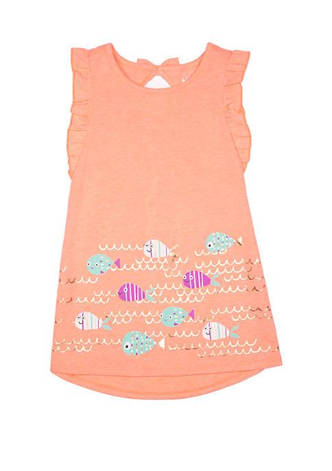 Lightning Bug Toddler Girls Ruffle A-Line Dress