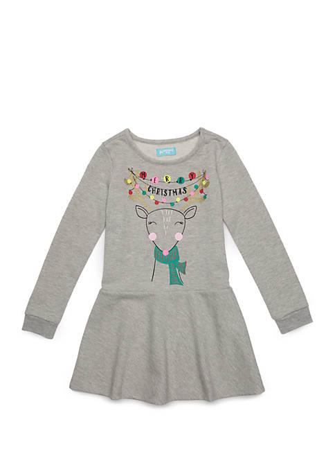 Lightning Bug Toddler Girls Flounce Hem Dress
