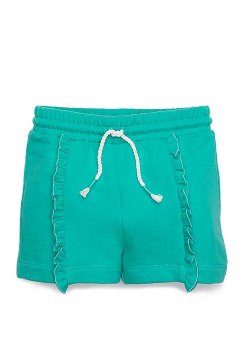 Toddler Girls Ruffle Front Shorts