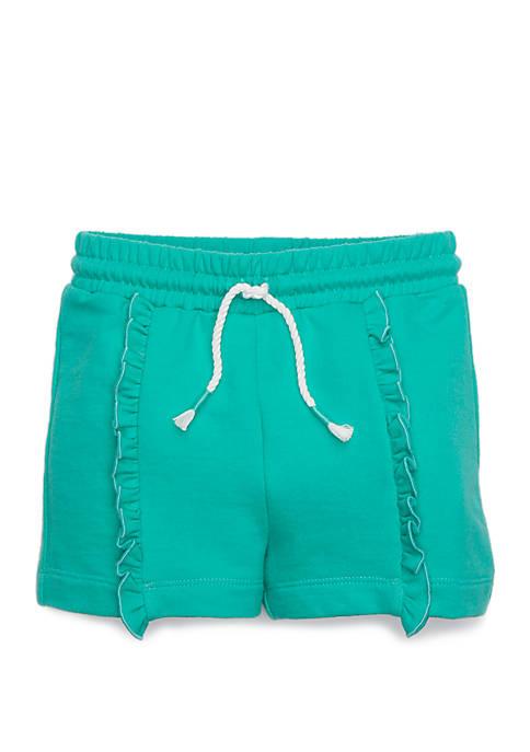 Lightning Bug Toddler Girls Ruffle Front Shorts