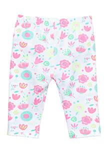 Girls Infant Capri Floral Legging