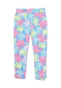 Printed Bow Pants Toddler Girls