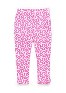 Printed Bow Pants Toddler Girls