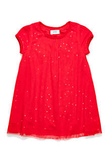 Toddler Girls Tulle Sleeve A-Line Dress