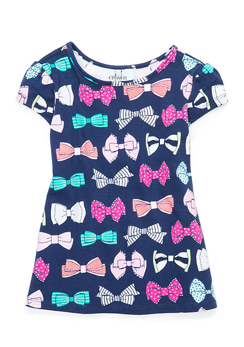 Crown & Ivy™ Toddler Girls Bow Back Swing