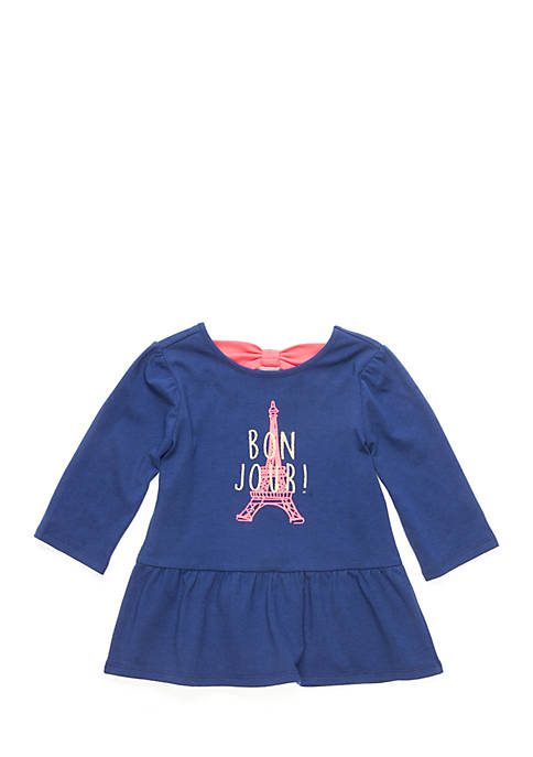 Crown & Ivy™ Toddler Girls Bow Back Top