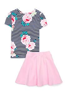 Toddler Girls Two-Piece Skirt Set