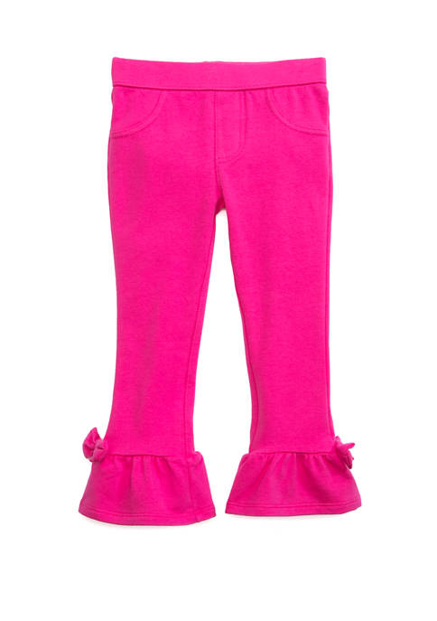 Crown & Ivy™ Toddler Girls Ruffle Ponte Pants