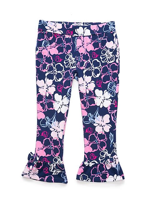 Toddler Girls Ruffle Ponte Pants