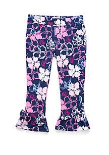 Crown & Ivy™ Toddler Girls Ruffle Ponte Pants