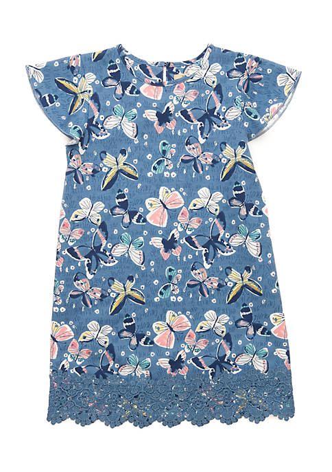TRUE CRAFT Toddler Girls 4-6x Flutter Sleeve Dress