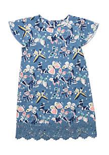 Toddler Girls 4-6x Flutter Sleeve Dress