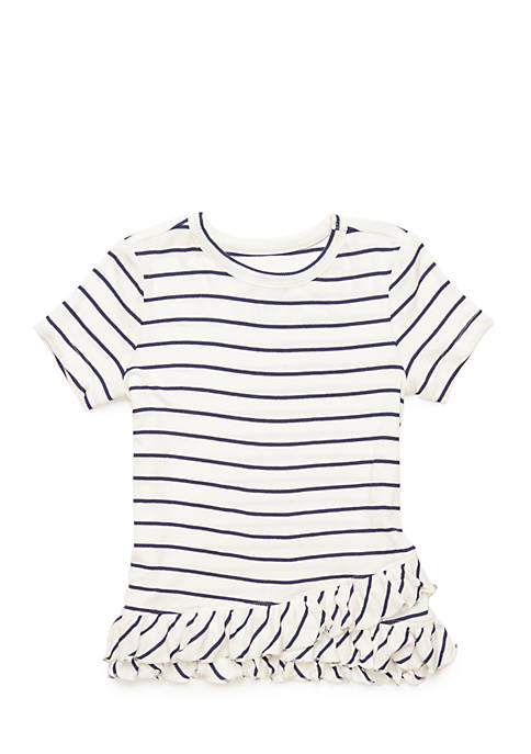 TRUE CRAFT Toddler 4-6x Short Sleeve Ruffle Hem
