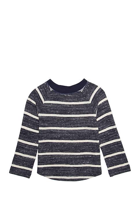 Boys 4-8 Long Sleeve Raglan Curve Tee