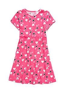 Toddler Girls Short Sleeve Skater Dress