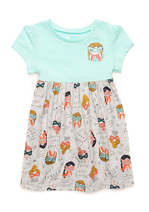 Lightning Bug Toddler Girls Short Sleeve Empire Waist