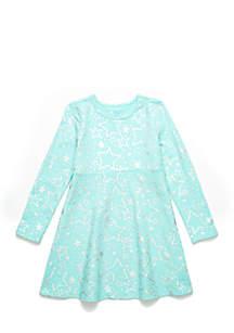 Toddler Girls Long Sleeve Skater Dress