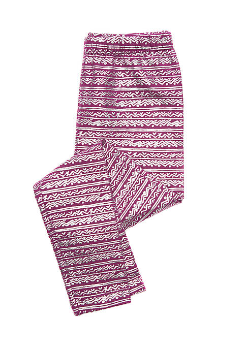 Lightning Bug Toddler Girls Fair Isle Basic Leggings