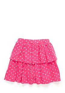 Toddler Girls Two Tier Ruffle Skirt