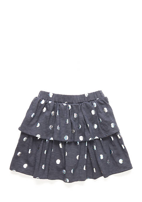 Lightning Bug Toddler Girls 2-Tier Ruffle Skirt