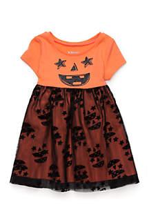 Newborn Girls Halloween Tulle Dress