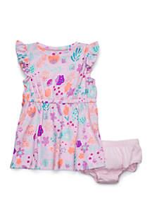 Lightning Bug Baby Girls Elastic Waist Dress