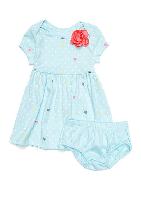 Lightning Bug Baby Girls Lap Shoulder Dress