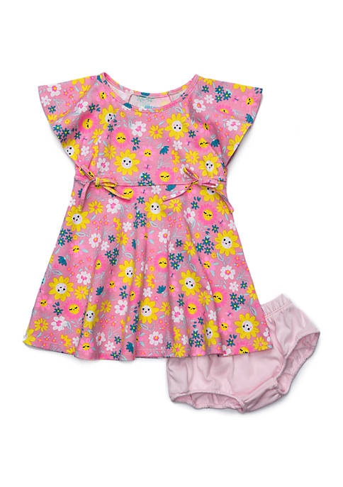 Lightning Bug Baby Girls Flutter Sleeve Dress