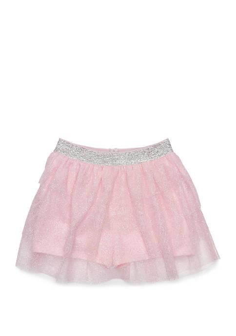 Lightning Bug Baby Girls Tulle Tier Skirt