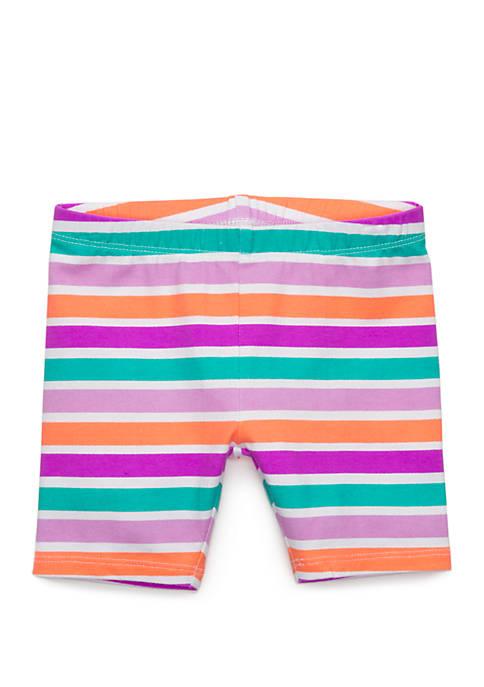 Toddler Girls Striped Bike Shorts