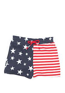 Lightning Bug Toddler Girls Paper Bag Waist Shorts