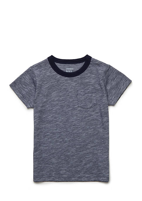 Crown & Ivy™ Heathered Pocket Tee Toddler Boys