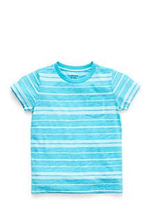 Toddler Boys Allover Striped Pocket Tee