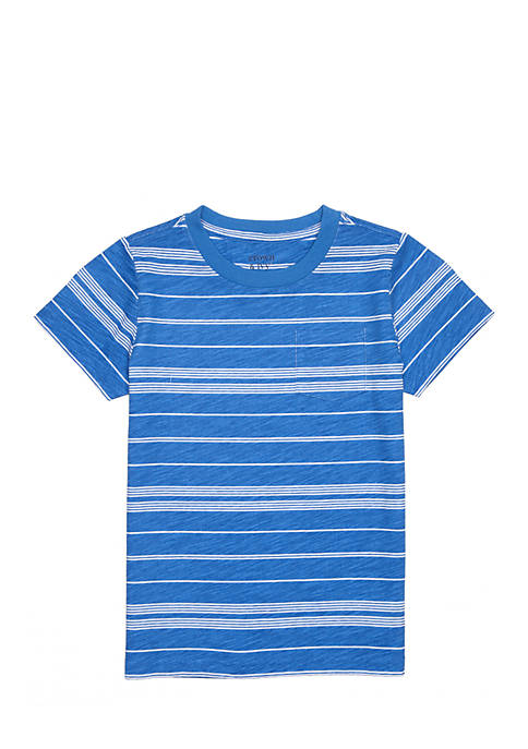 Crown & Ivy™ Toddler Boys Allover Striped Pocket